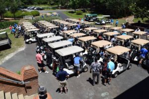 27 teams of four took part in the annual golf charity.
